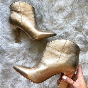Women's Gold Marc Fisher Booties